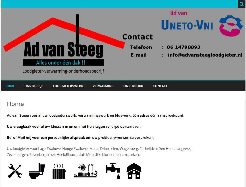 Ad van Steeg, loodgieter