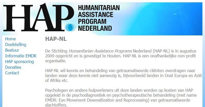 HAP-NL, hulpverlening